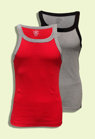 Jockey Men's Fashion Cotton Gym Vest US27 (2s Pack)