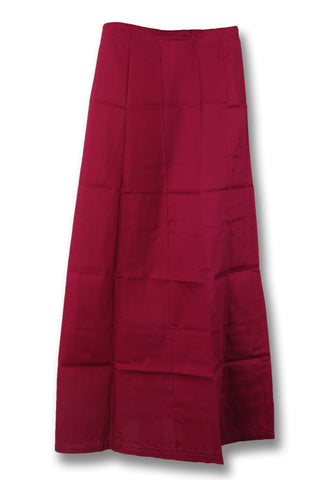 Maroon Cotton Peticoat View1