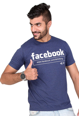 Furious Active Facebook Navy Blue T-Shirt