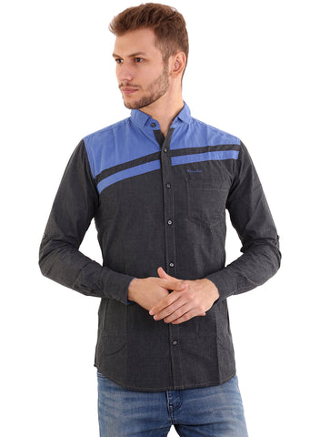 Rapphael Casual  Men's Stylish charcoal Cotton Slimfit  Shirt