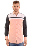 Rapphael Casual  Grey & Orange Color Slimfit Shirt for men