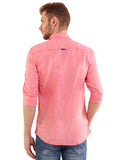 SHADE-45 Men's Plain Dark Pink Cotton Slimfit Shirt