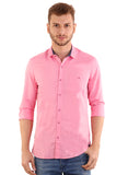 SHADE-45 Men's Plain Pink Cotton Shirt