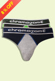 Chromozome Assorted Trilogy Men's Brief (2pc pack)