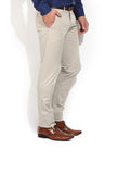 Indwins Men's Cream Regular Fit Trouser