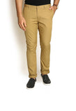 Indwins Men's Beige Regular Fit Trouser