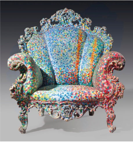 Proust Armchair by Alessandro Mendini - D3CO collaboration for charity