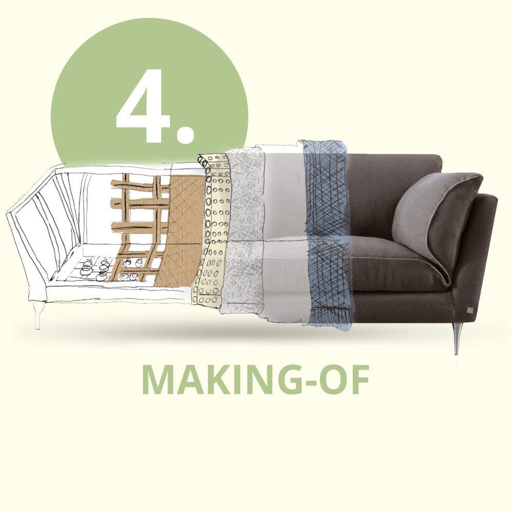 Building a sustainable sofa at D3CO - making ecofriendly furniture step by step - part4/6