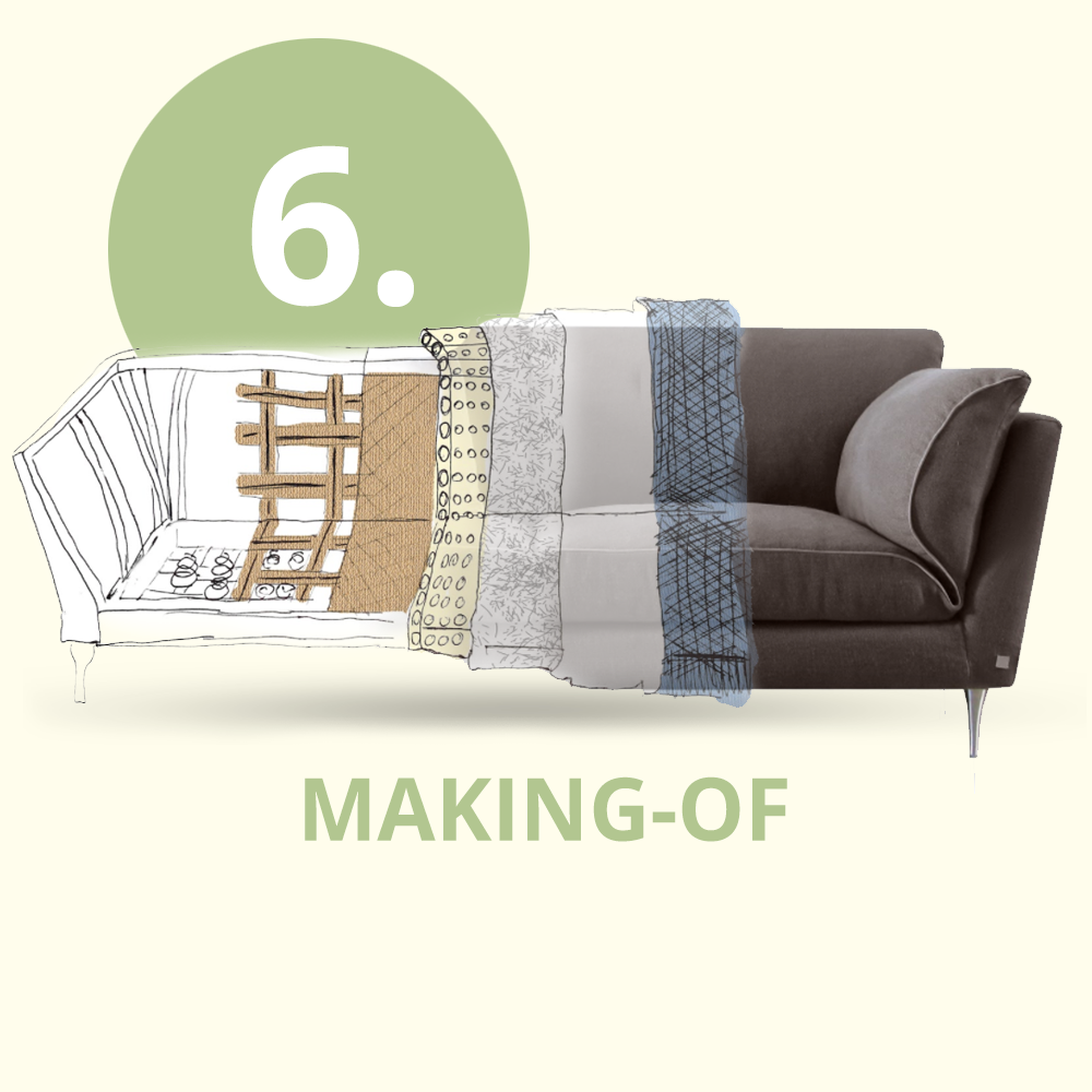 Building an ecofriendly sofa with 100% natural materials - Part 6/6