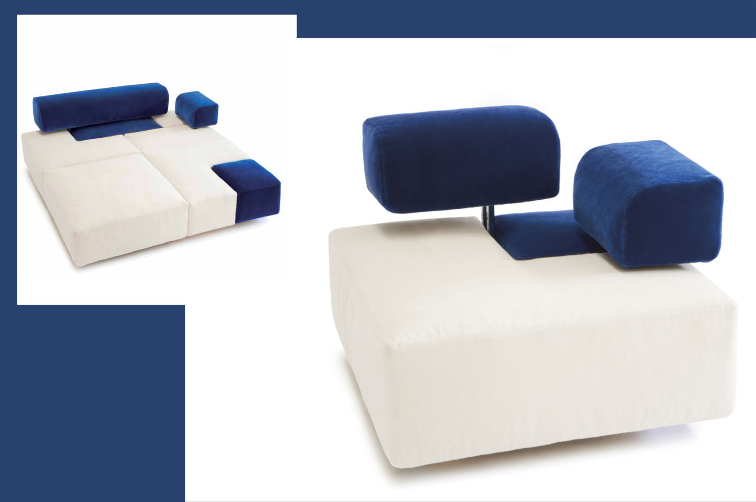 D3CO modular sofa Domino - ecofriendly and sustainable