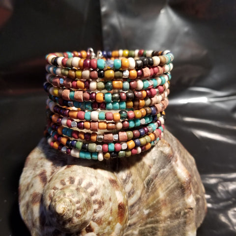 B20. OOAK Rustic Cowgirl Bling cuff - turquoise jewelry - western jewelry - Red Dirt Diva