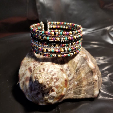 B21. Rustic Glitter - southwestern silver and steel - Red Dirt Diva