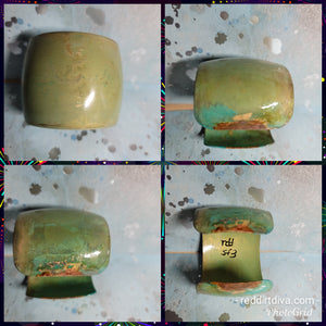 B35. Santa Fe Blues #3 - southwest rustic green patina - urban warrior cuff - everyday turquoise - contemporary jewelry design