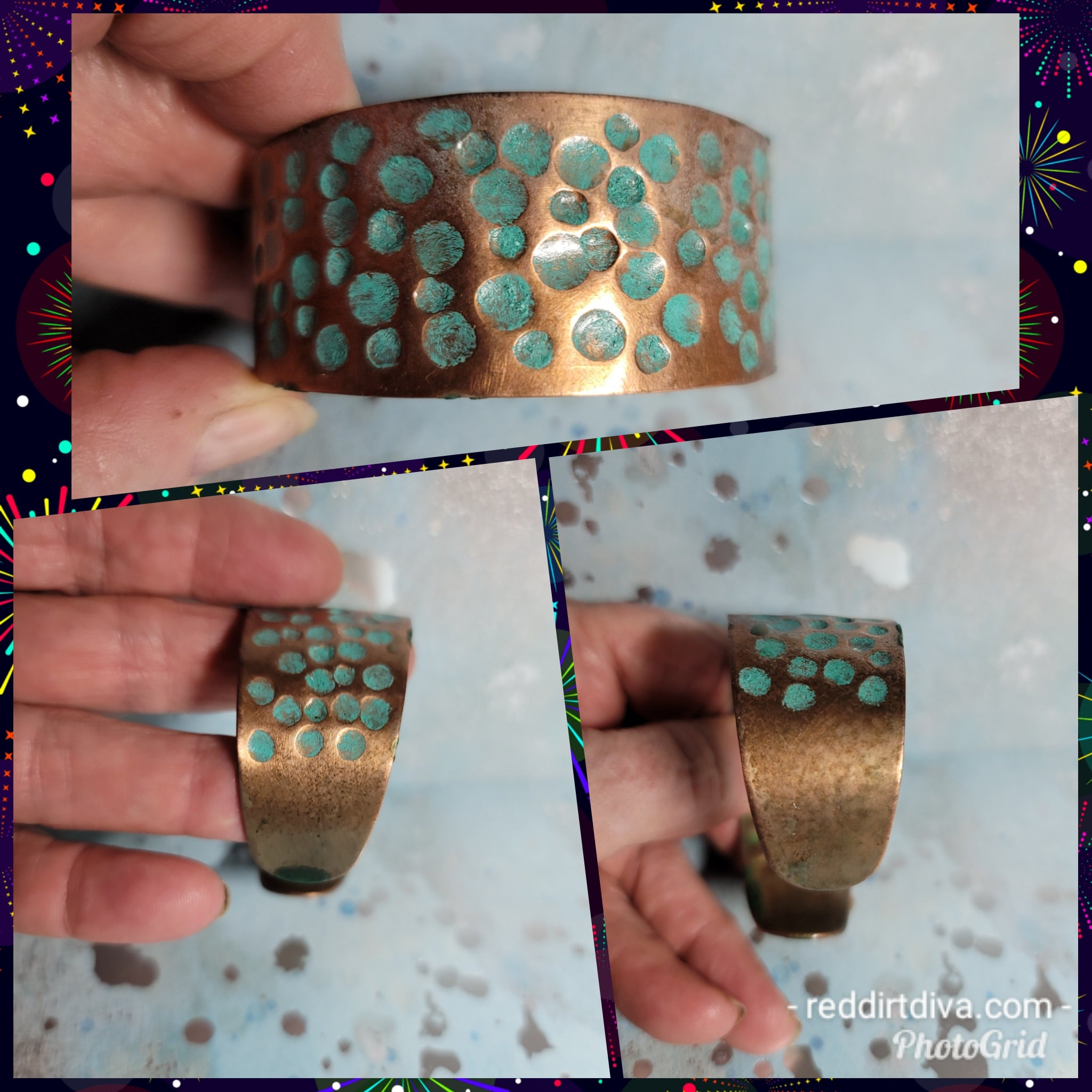 B49. OOAK Turquoise and Copper - turquoise cuff - copper cuff - everyday turquoise - contemporary jewelry design
