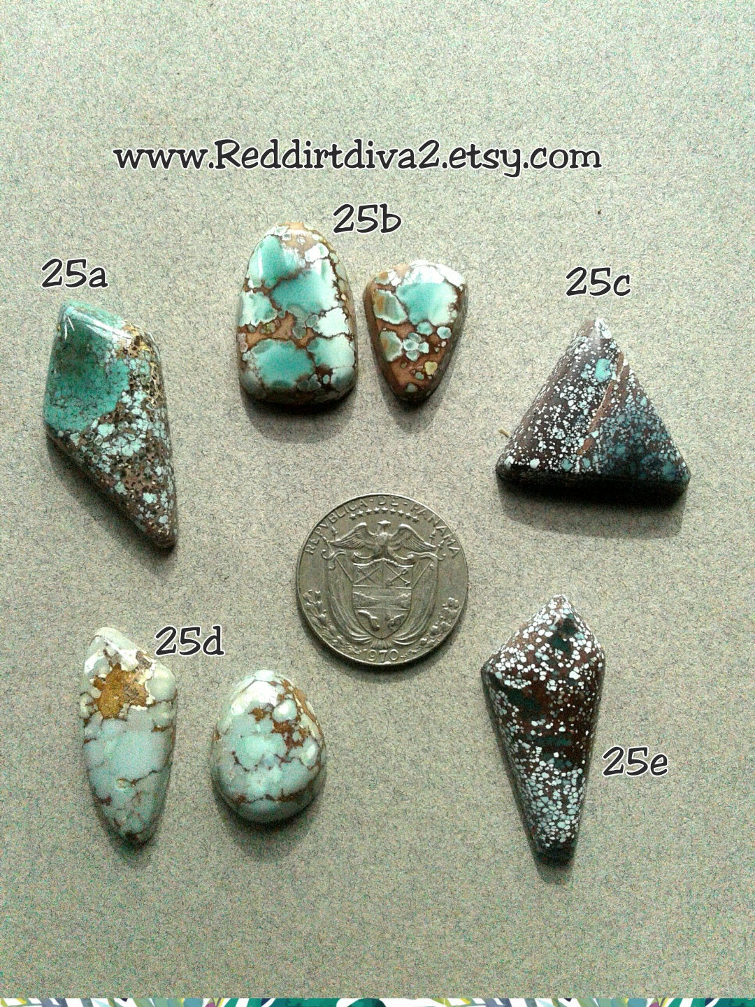 25c, Red River turquoise