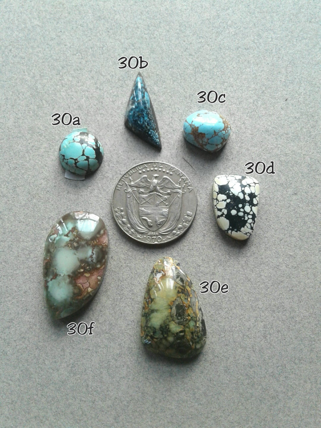 30c. Red River, New Lander, Hubei, Blue Moon, Cassiopeia, all natural turquoise - Red Dirt Diva