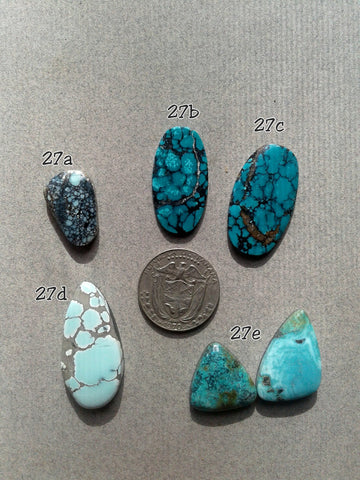 27c. Cloud Mountain turquoise, Orion Variscite, Hubei turquoise - Red Dirt Diva