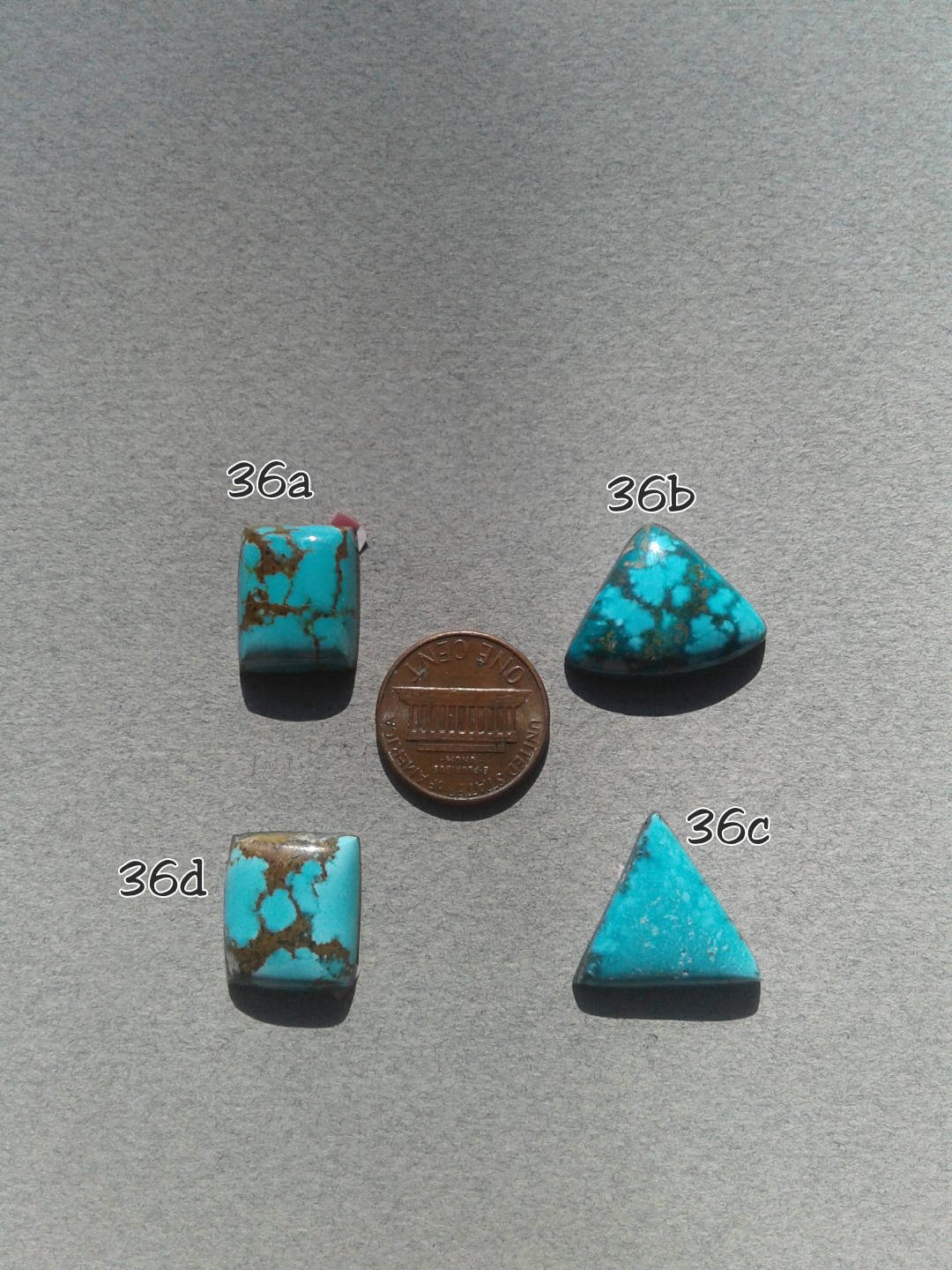 36c. Sierra Nevada turquoise, matrix turquoise, blue turquoise - Red Dirt Diva