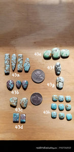 43C. Treasure Mountain, Red River turquoise, Australian Variscite, Snowville - Red Dirt Diva