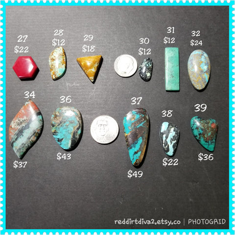 gemstone  destash - turquoise