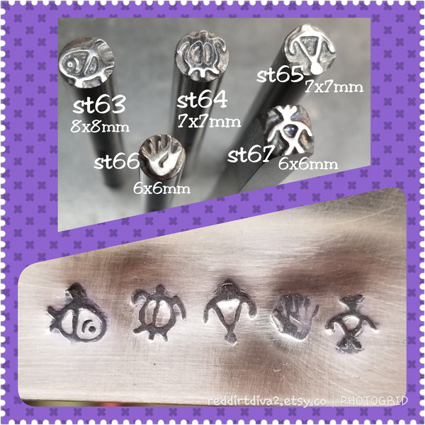 st10. WOW handmade jewelry stamps for metal and leather - totem spirits stamps