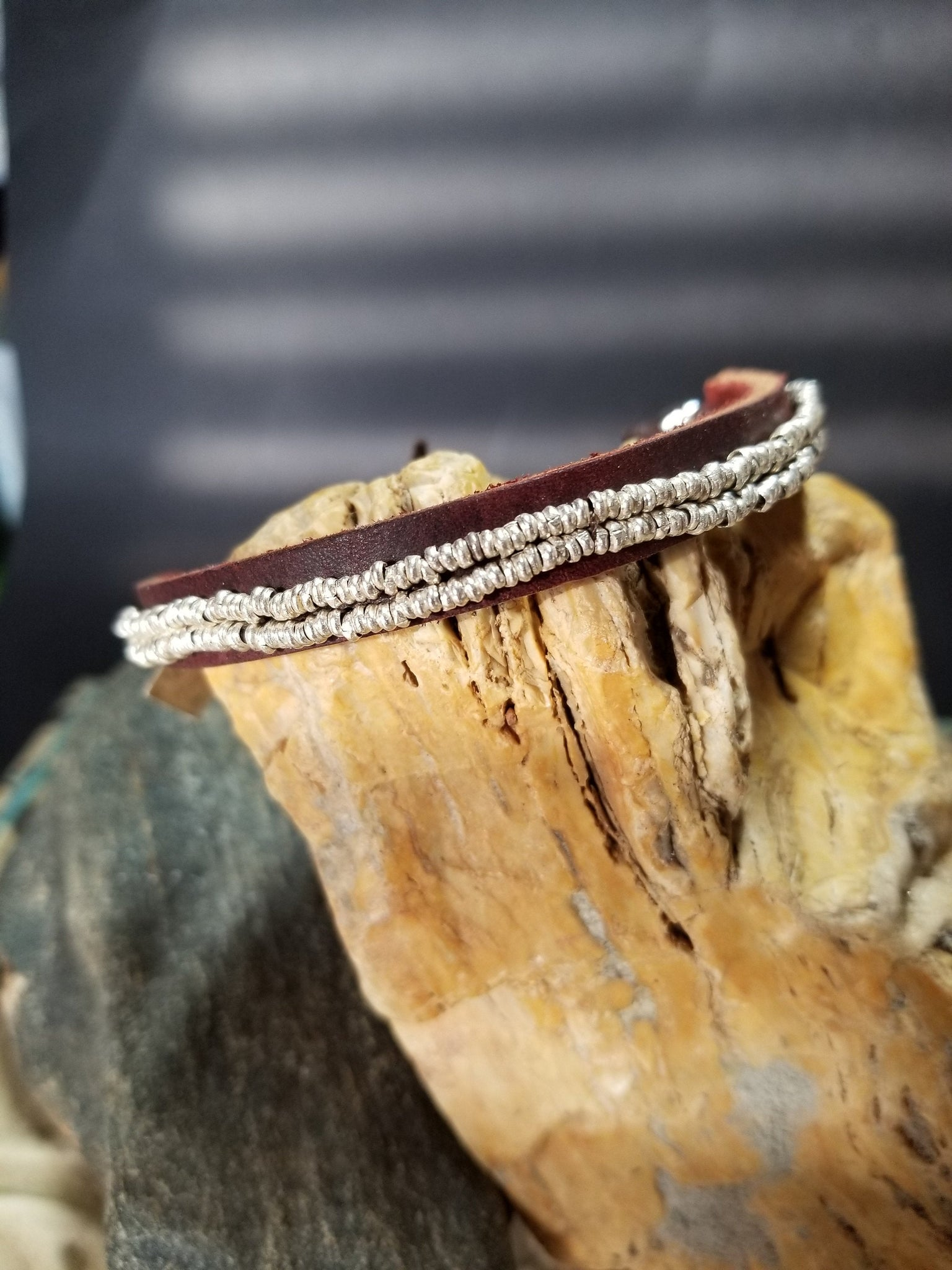 B16. cowgirl leather jewelry - cowgirl silver jewelr - ethnic silver jewelry - contemporary jewelry design - Red Dirt Diva