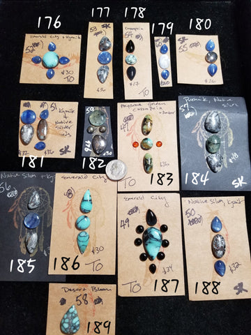46n. Native silver, natural silver, Variscite, Onyx
