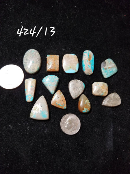 50a. Hubei, Red River, Mixed Nevada, Compas, Pilot Mountain turquoise - Red Dirt Diva