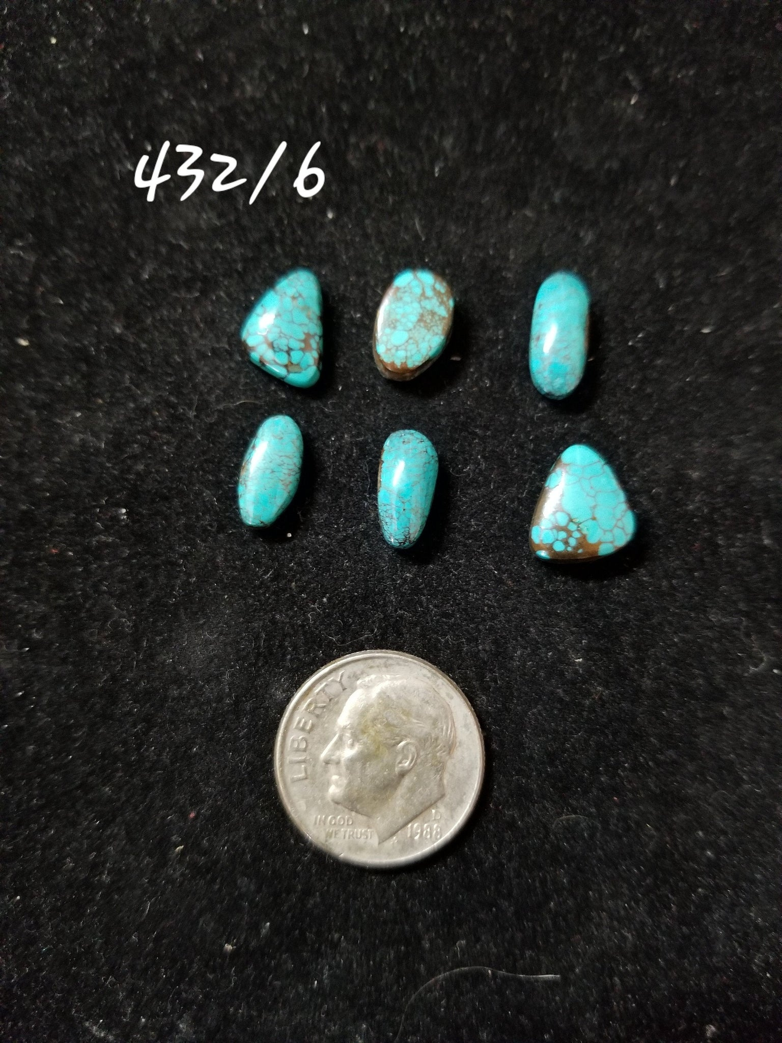 50c. Hubei, Cloud Mountain, Kingman heart, Mixed mines turquoise - Red Dirt Diva