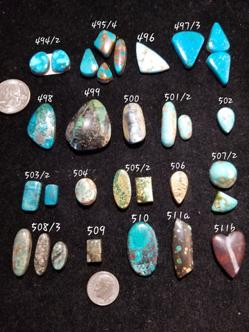 51b. Kingman, Pilot Mountain, Turquoise Mountain, Arizona, Royston, Seven Dwarfs, Red River, Azurite, Hubei
