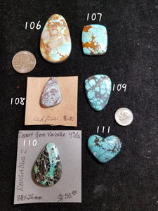 46c. Royston, No. 8, Red River, Desert Gem, Hubei turquoise - Red Dirt Diva