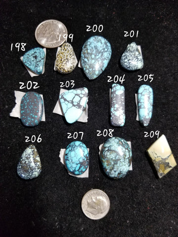 46p. high grade Chinese turquoise, Cloud Mountain - Red Dirt Diva