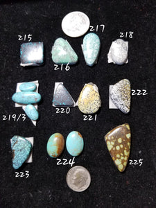 46s. Broken Arrow, Cloud Mountain, Kingman turquoise