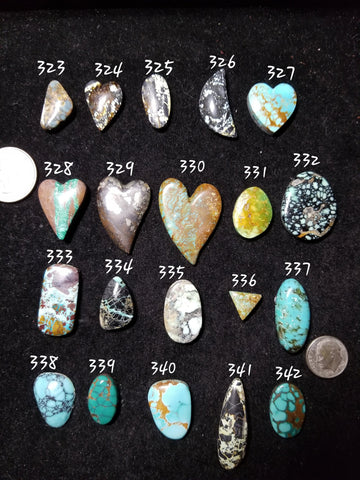 49c. turquoise hearts - Red Dirt Diva