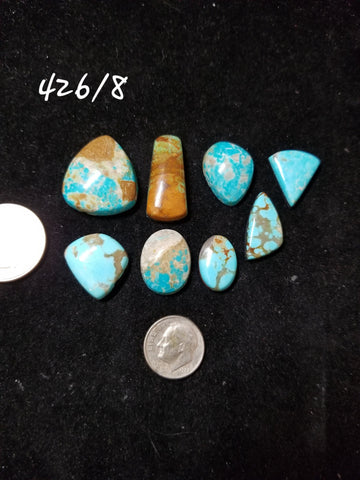 50b. Compas, Nevada Ribbon, Hubei, Bisbee, Mixed turquoise