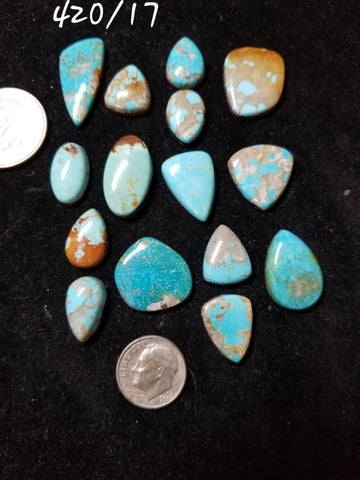50a. Hubei, Red River, Mixed Nevada, Compas, Pilot Mountain turquoise