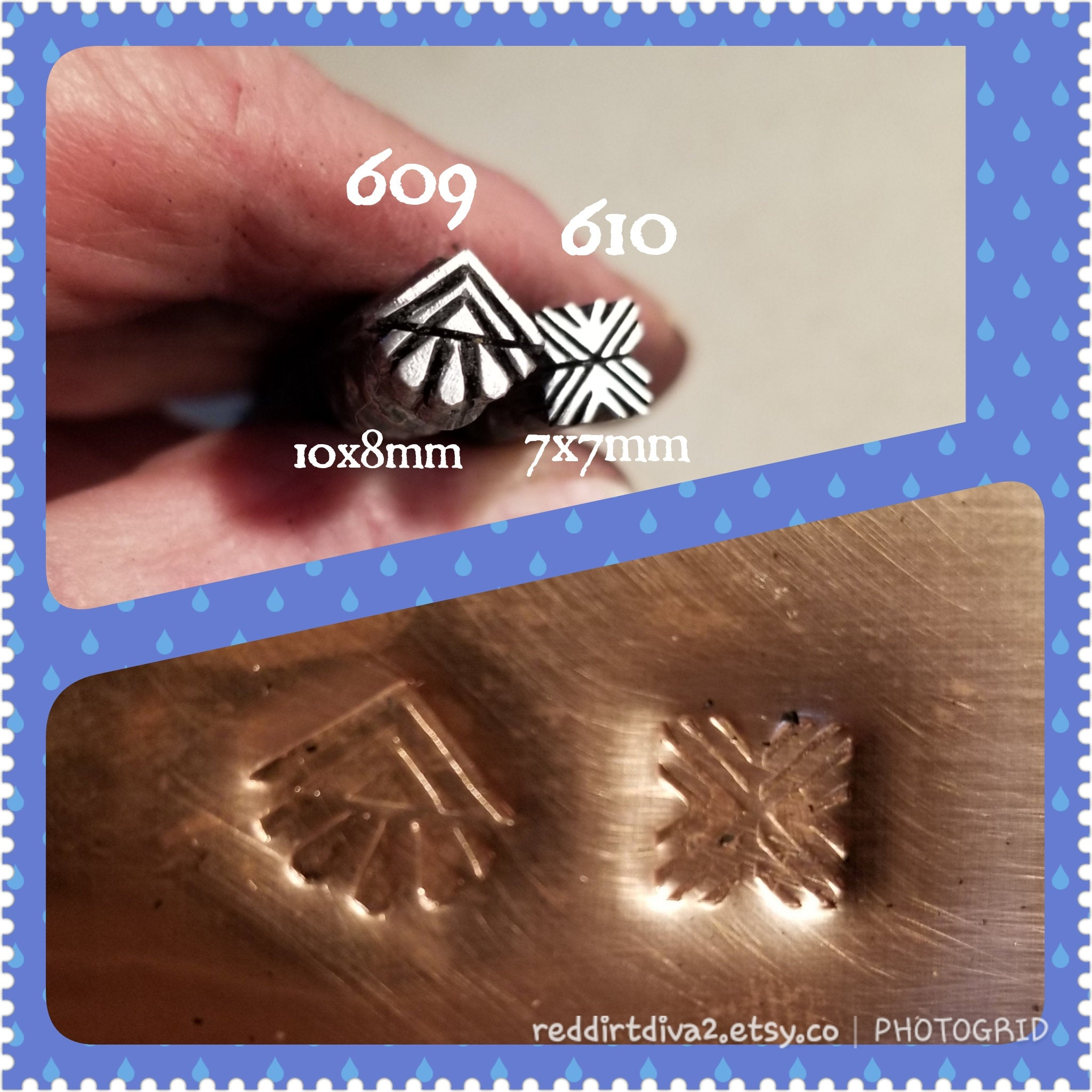 UST70. OOAK metal stamps for jewelry - jewelry stamps - leather stamps - design stamps - Red Dirt Diva
