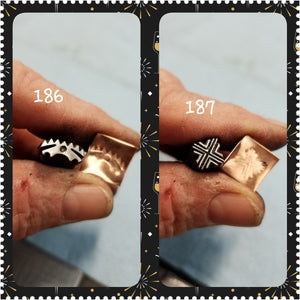 UST18. COOL metal stamps for jewelry - metal punch - leather stamp - tribal stamp - Red Dirt Diva