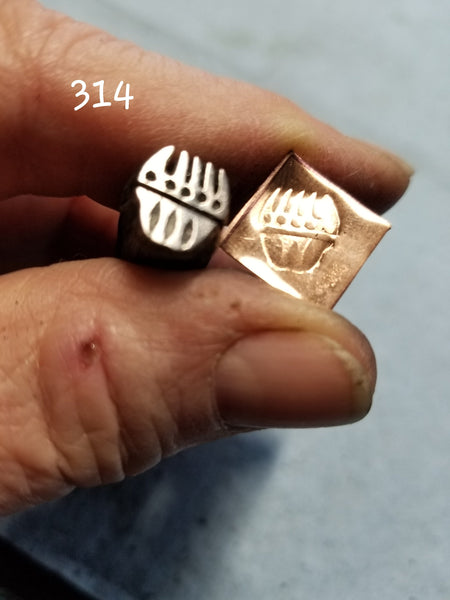 UST34. excellent handmade stamps for metal and leather jewelry - easy to use - clean impressons