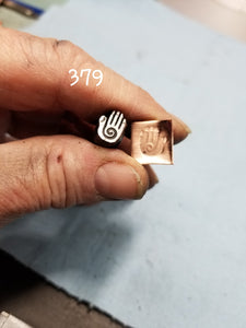 UST43. COOL handmade stamps for metal and leather jewelry - crisp impressions