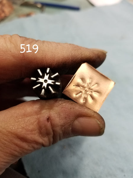 UST61. BOLD handmade stamps for metal and leather jewelry - detaiIed impressions