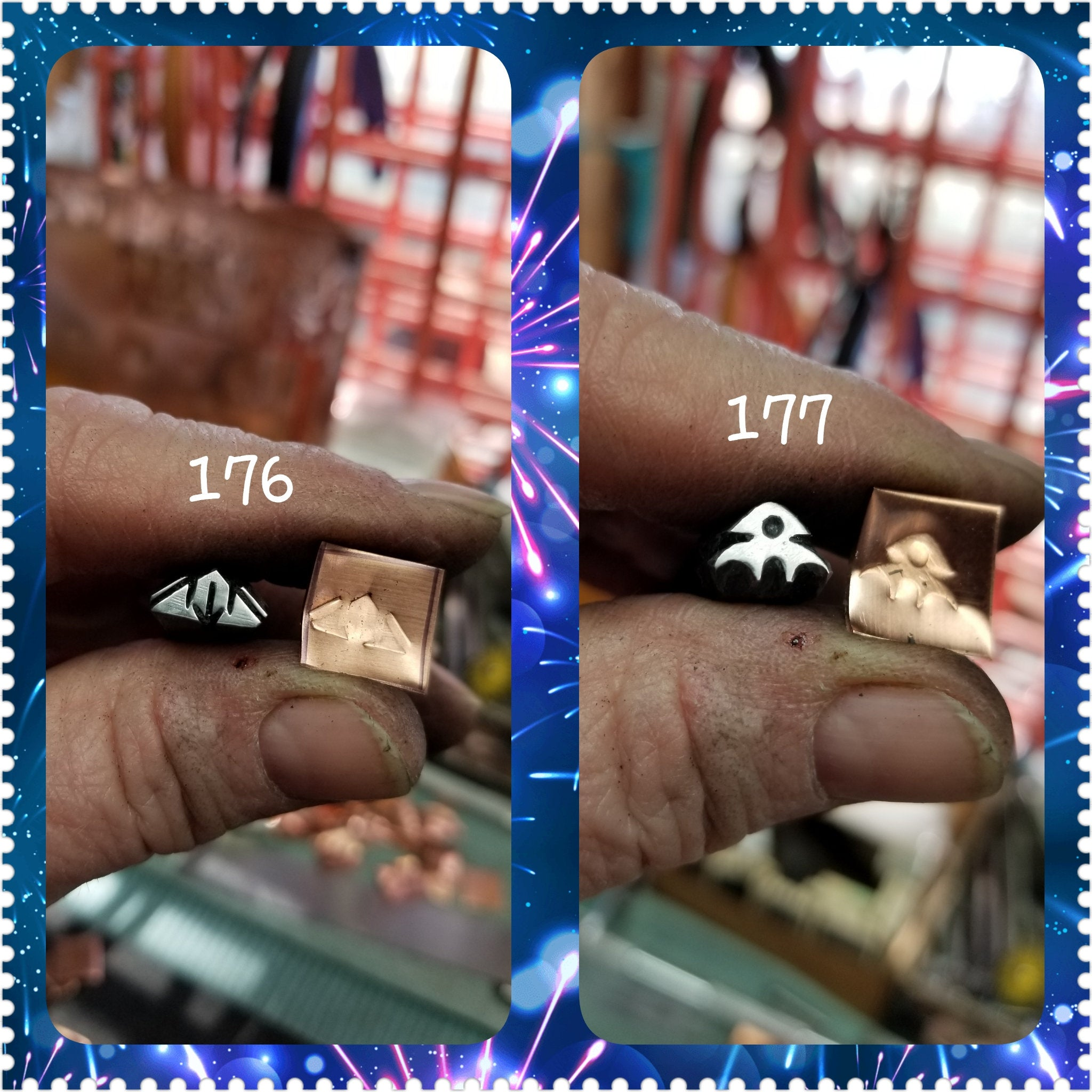 UST17. LOOK metal stamps for jewelry - leather punch - stamp leather - stamp metal - Red Dirt Diva