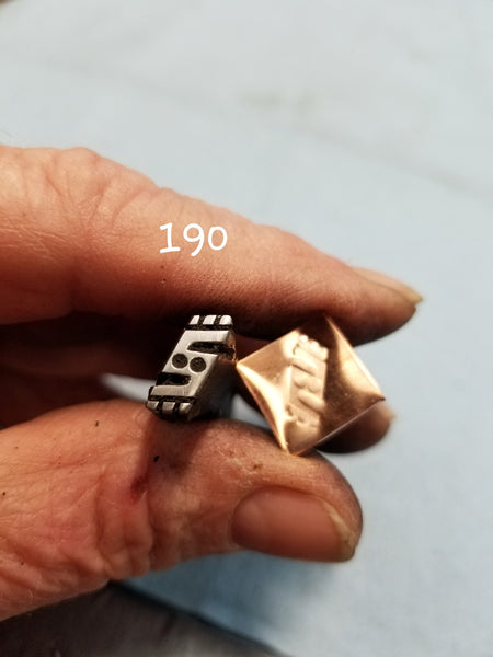 UST18. handmade stamps for metal and leather jewelry - great impressions