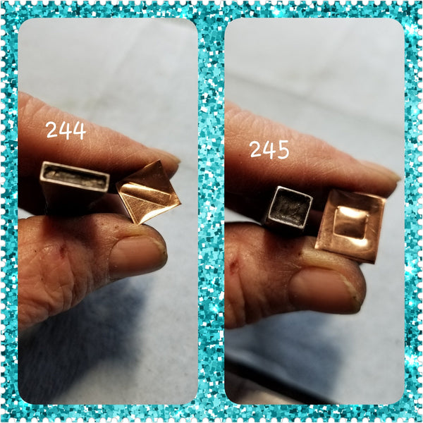 UST23. hollow stamps for metal and leather jewelry - metal stamps - jewelry stamps - southwest stamps - Red Dirt Diva