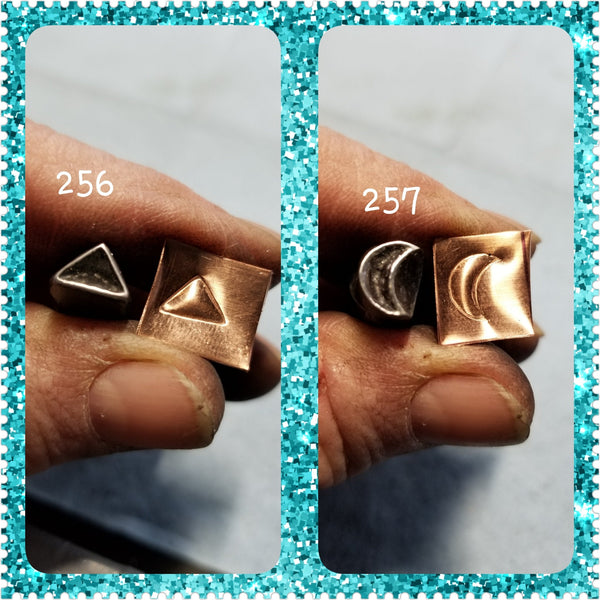 UST23. bump out handmade stamps for metal and leather jewelry - raised impressions