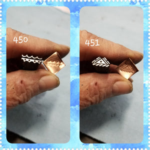 UST55. EXCELLent metal stamps for jewelry - jewelry stamps - metal punch - leather stamp - Red Dirt Diva