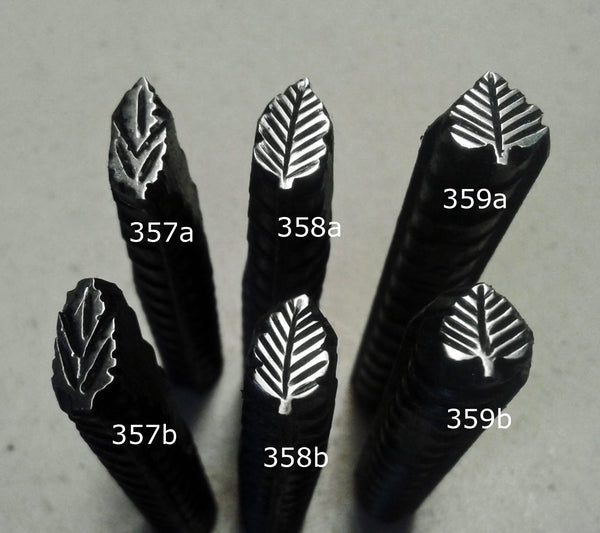 UST39. LOOK leaf stamps for metal jewelry - leather stamps - jewelry stamps - metal stamps
