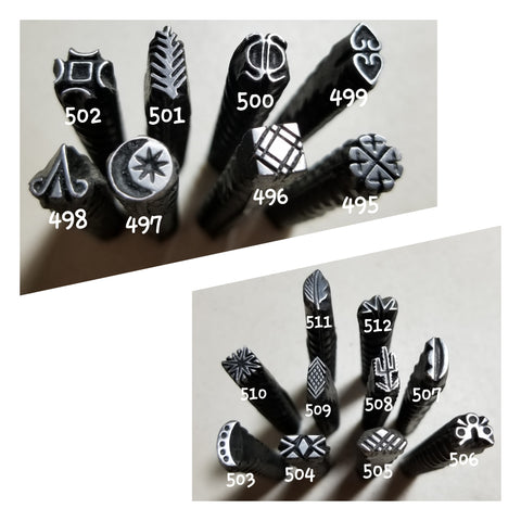 UST60. RAD metal stamps for jewelry - jewelry stamps - leather punch - leather stamps