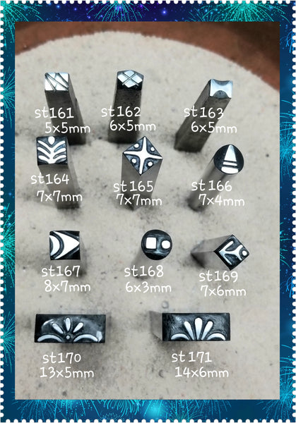 st22. ART deco metal stamps for jewelry - metal or leather