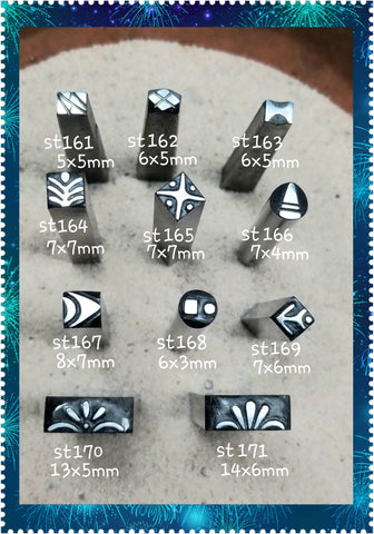 st22. ART deco metal stamps for jewelry - metal or leather - Red Dirt Diva